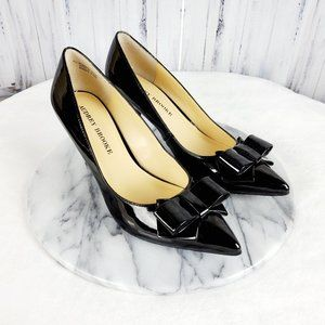 Audrey Brooke MARY Patent Leather Bow Heels